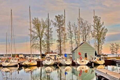 Boats in Marina Morning Light