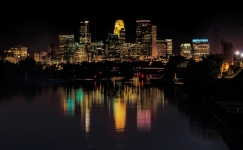 Minneapolis Skyline from Lowry Bridge