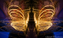 An abstract creation using light painting images
