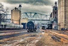 Rail Yard in Rain