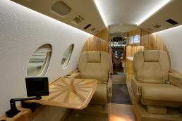 Aircraft interior • Falcon 50 jet