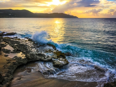 Sunset on the north shore of St. Croix, USVI