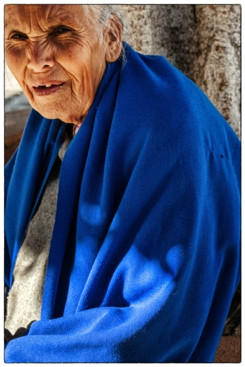 Woman with Blue Shawl