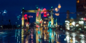 Hennepin Ave Bridge in the Rain 2