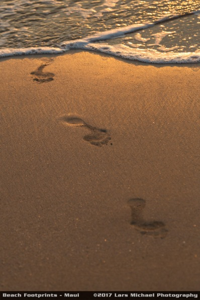 Beach Footprints - Maui